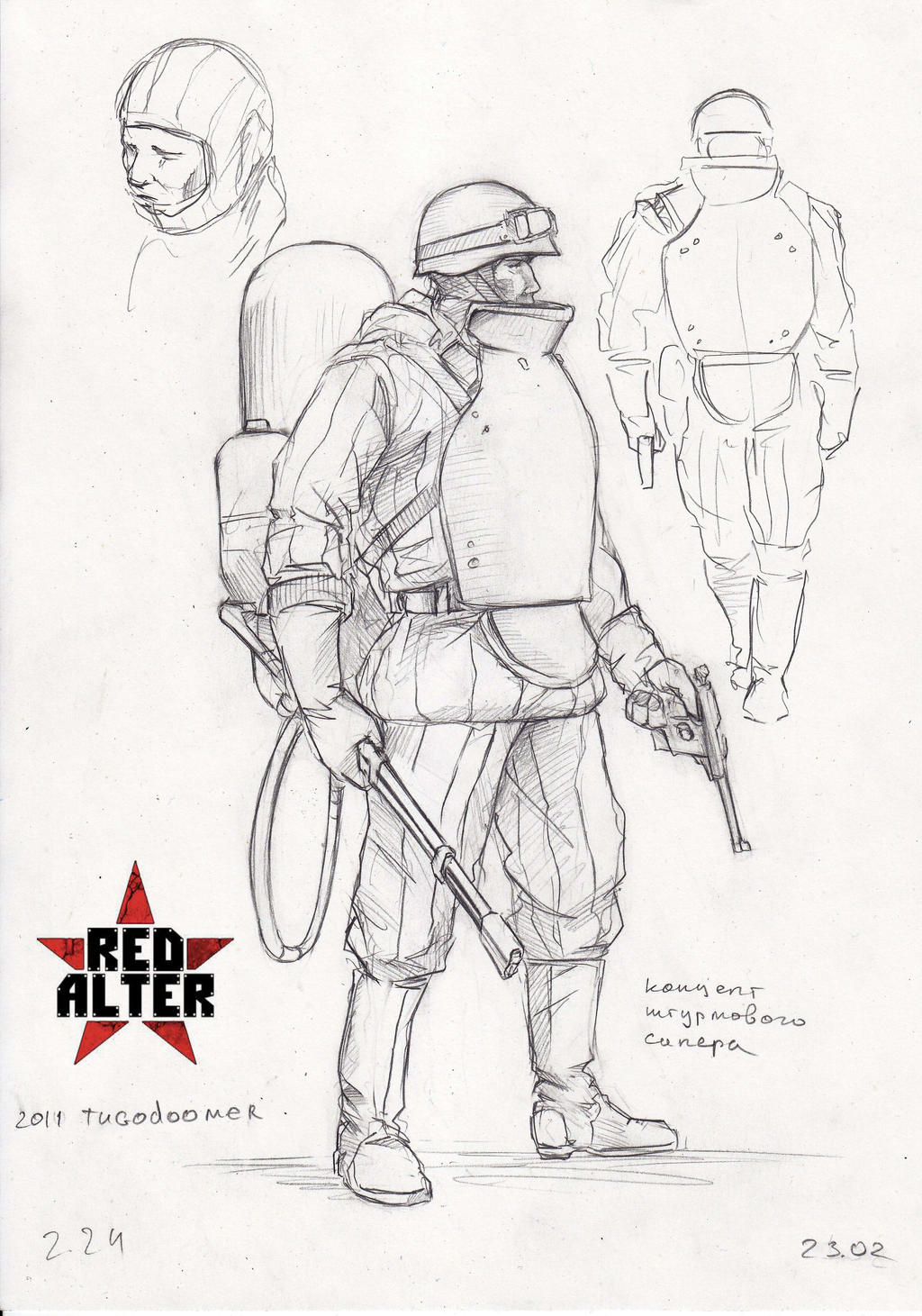 soviet flamethrower trooper by TugoDoomER