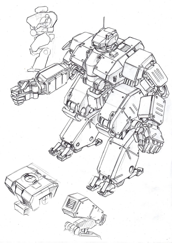 mecha sketches1 by TugoDoomER