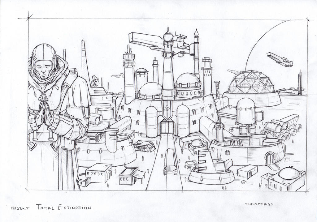 Theocracy city sketch by TugoDoomER