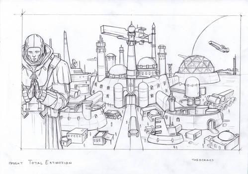 Theocracy city sketch