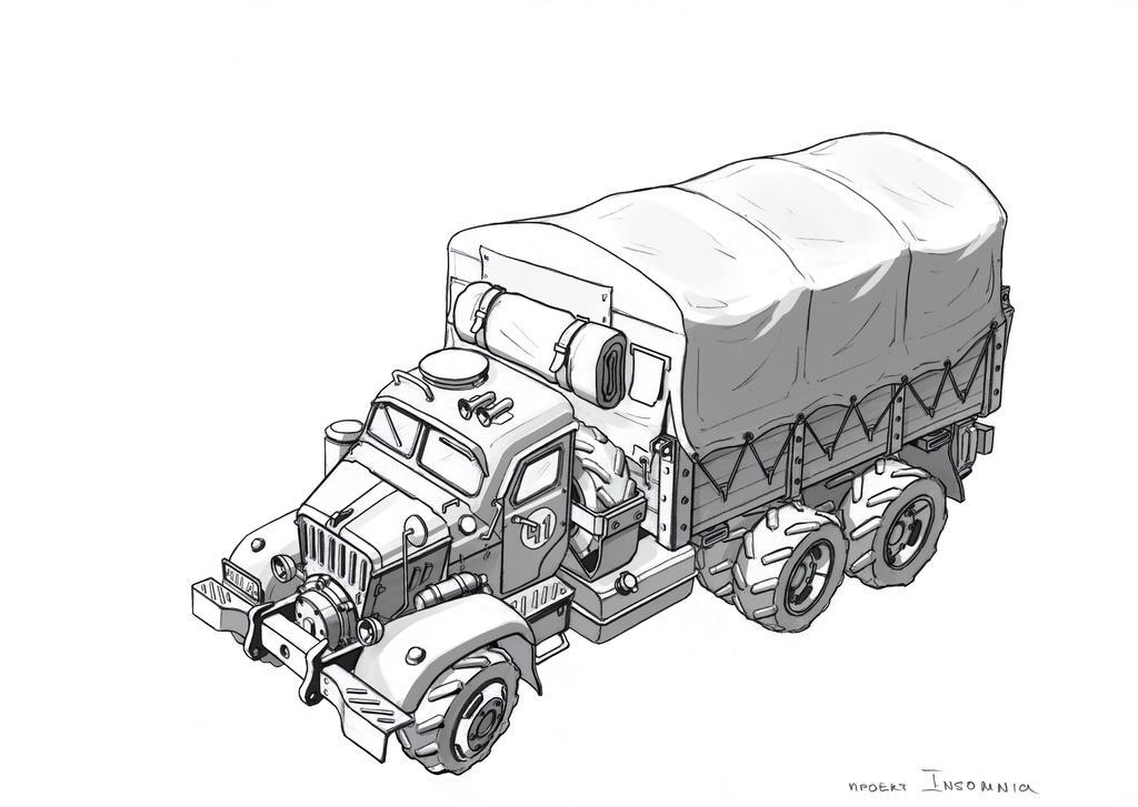 Military truck by TugoDoomER
