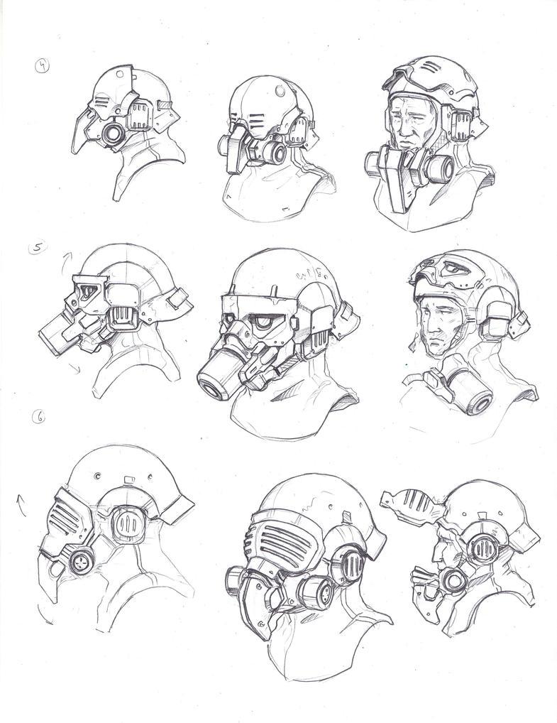 Neophron's helmets 2 by TugoDoomER
