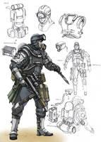 US combat diver by TugoDoomER