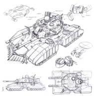 Soviet Bastion super-heavy tank by TugoDoomER