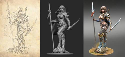 female warrior by TugoDoomER