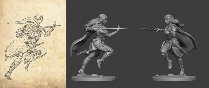 Shimmunia Sunflower elf warrior