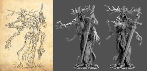 Fraudstenner wraith - forest horror by TugoDoomER