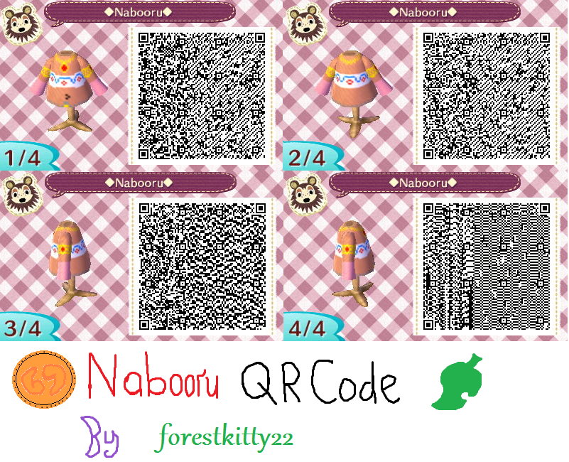 Conosciuto Nabooru QR Code Animal Crossing New Leaf by ForestKitty22 on  QL11