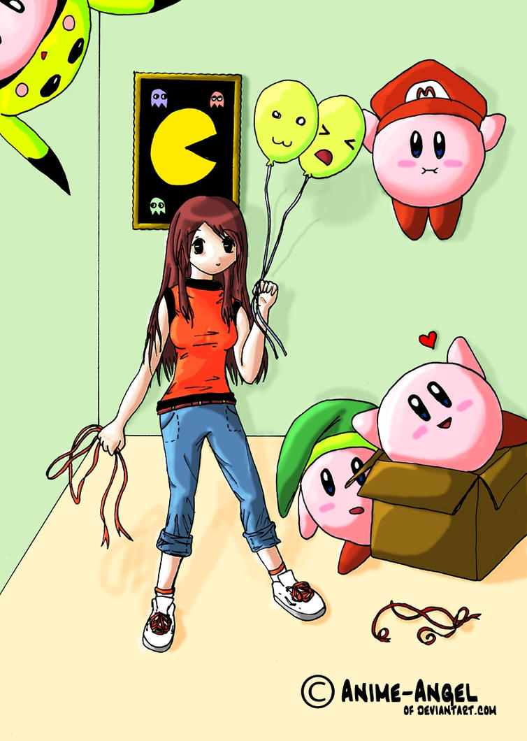 Kirby Birthday Present by Anime-Angel