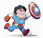 Steven Universe as Captain America