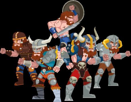 Barbarian Siege heroes by mictlantectli