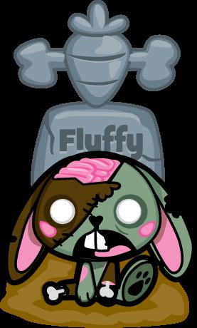 Fluffy el conejo zoombie by mictlantectli