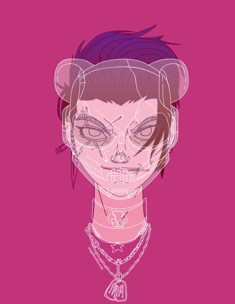 Helmet Girl Punk by mictlantectli