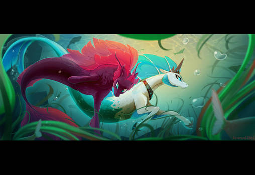 Confused underwater