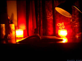 Reading by Candle Light by nightotaku