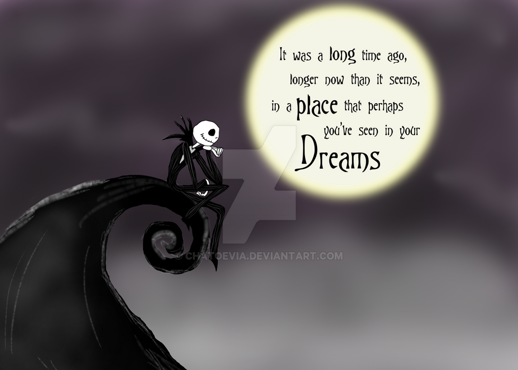 Thinking of you - Jack Skellington by Chatoevia on DeviantArt Nightmare Before Christmas Jack