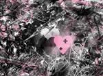 Wallpaper - black Pink White