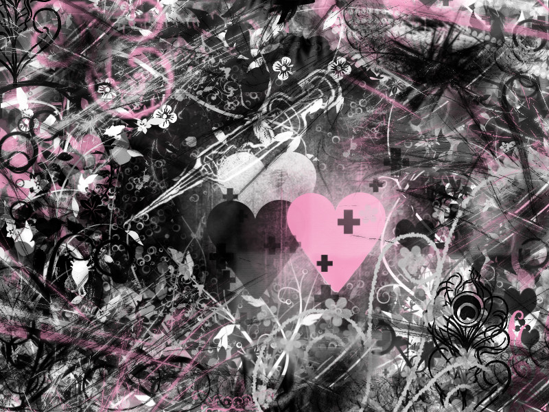 Wallpaper Black Pink White By Silveremerald92 On Deviantart