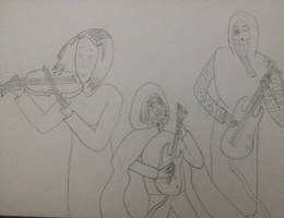 Band sketch by Shattered-Reaper