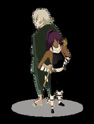 Yoruichi and Urahara by securedot