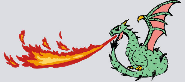 Winged Dragon Flame