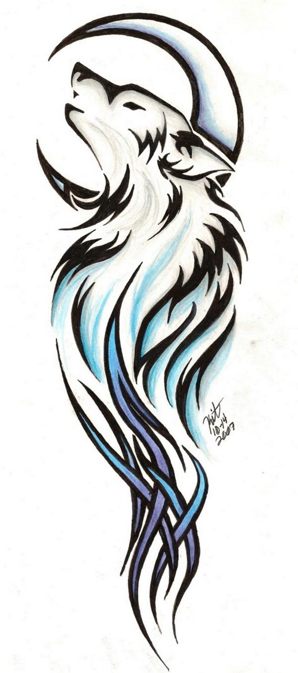 Setiyi Kivan Cyzer  Tribal_Wolf_Tattoo_by_ReighnMiyuki