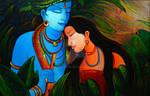 Indian paintings - Radha Krishna Love