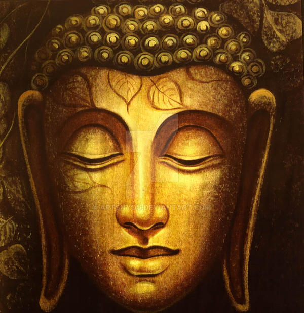 Gautam buddha painting by artsnyou on deviantart for Buddha mural paintings