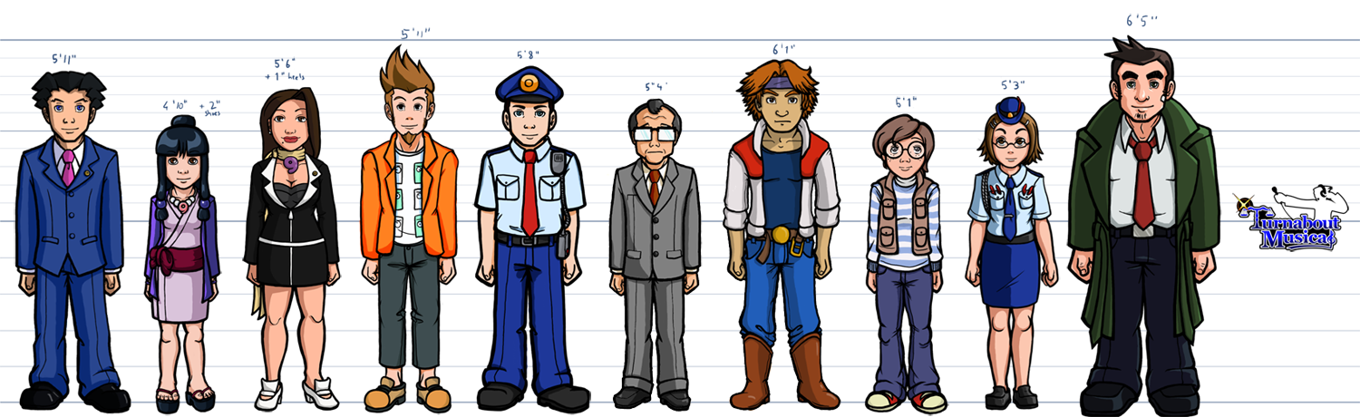 6 Foot Anime Characters : Character height chart wip by reigate on deviantart