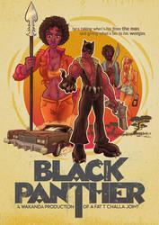 Black Panther 70s Blaxploitation Style by DC-Tiki