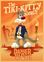 Tiki Kitty Sleuth (updated) by DC-Tiki