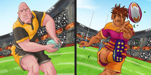 Rugby Players by DC-Tiki