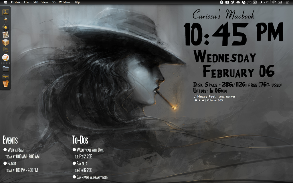 Film Noir Geektool Desktop by rissfairy