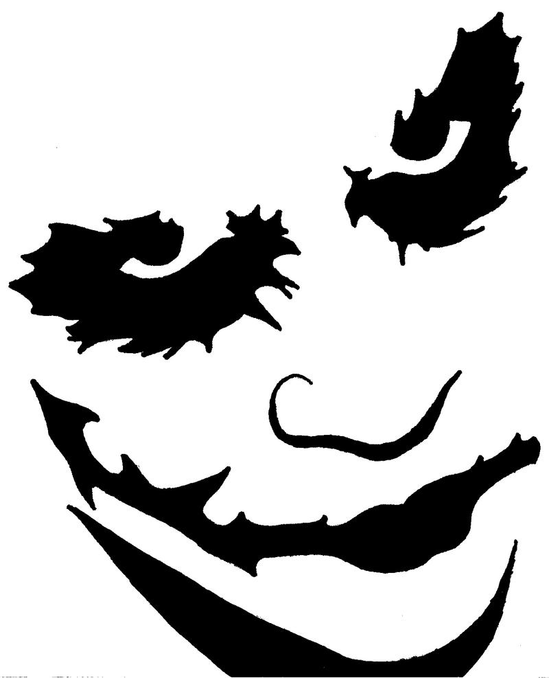 Joker Pumpkin Stencil by blanksofar on DeviantArt