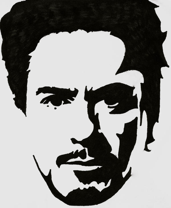 Tony Stark Stencil by blanksofar on DeviantArt