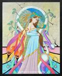 Pregnant Fairy by andressanchezart