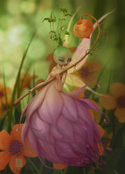 artichoke Fairy by andressanchezart