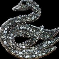 swan brooch - broche cygne - precut PNG by NathL-fr