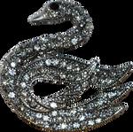 swan brooch - broche cygne - precut PNG