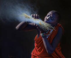 Nancy Howe  'Tender the Flame' by OilPaintersofAmerica