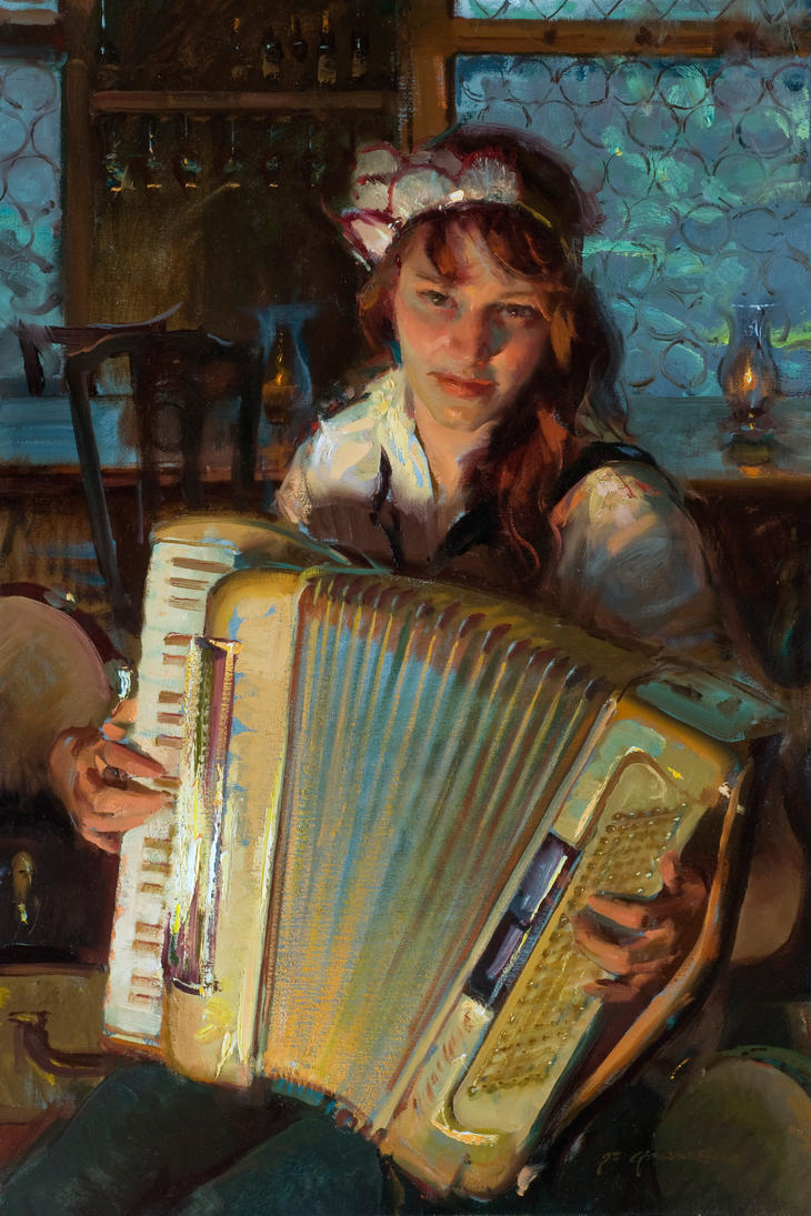Daniel Gerhartz - Of an Evening by OilPaintersofAmerica