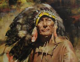 Ed Kucera - Bonnet in the Wind by OilPaintersofAmerica