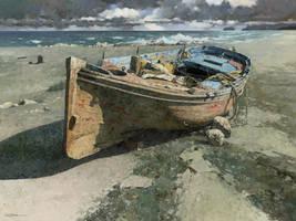 Tide - Xiao S. Jiang by OilPaintersofAmerica