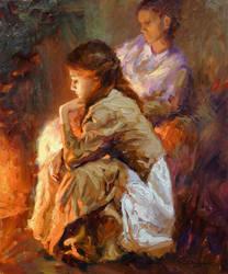 Vadim Dolgov - By the Fireplace