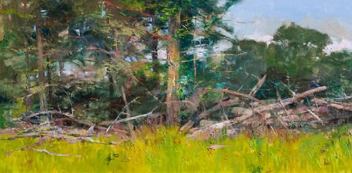 Cedar Grove at Menodocino by Albert Handell OPAM by OilPaintersofAmerica