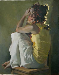 Spettro by Nancy Crookston OPAM by OilPaintersofAmerica