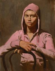 Pink Hoody by Warren Chang OPAM by OilPaintersofAmerica