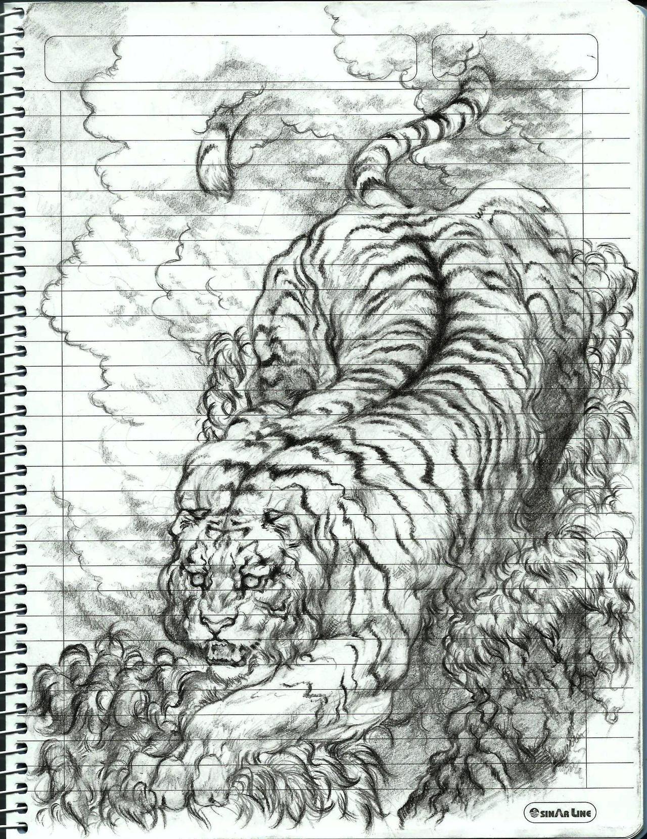 Tiger Climbing Down Tiger Climbing Down Tattoo
