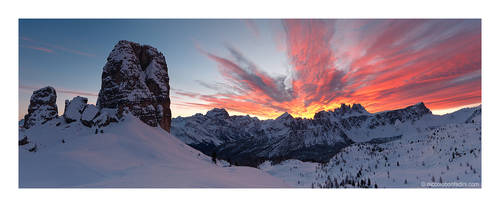 Dolomites in Flames by niccolobonfadini