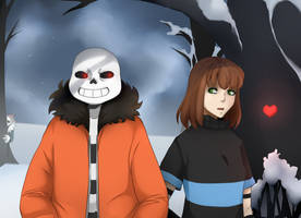 PrisonTale - Sans and Frisk by Abalimm